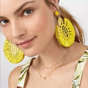 """Soho"" Radiant Yellow XL Oversized Earrings"